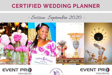 Certification Wedding Planning - Session Septembre 2020
