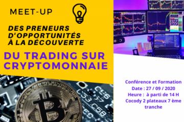 Meet-up Des Preneurs d'Opportunités Vs TRADING SUR CRYPTOMONNAIE