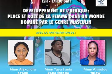 DEVELOPPEMENT DE L'AFRIQUE : Place et rôle de la femme dans un monde dominé par le genre masculin